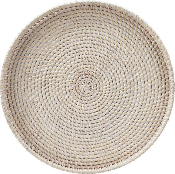 Dekotablett Janis in Weiß - Weiß, Holz (45/4cm) - MÖMAX modern living