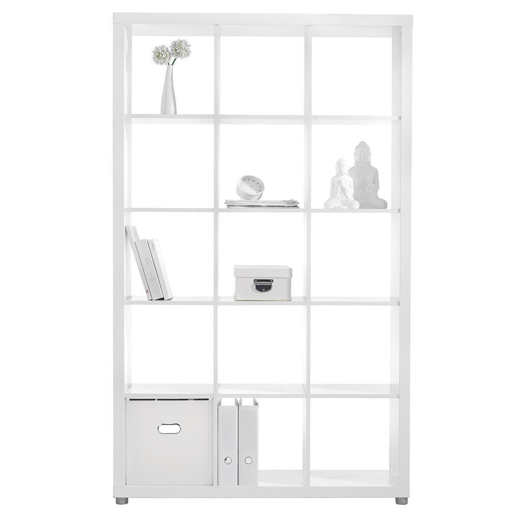 Raumteiler in Weiß mit 15 Fächer