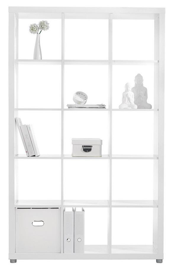 Raumteiler Weiß - Alufarben/Weiß, Holzwerkstoff/Kunststoff (117/193/35cm) - Mömax modern living