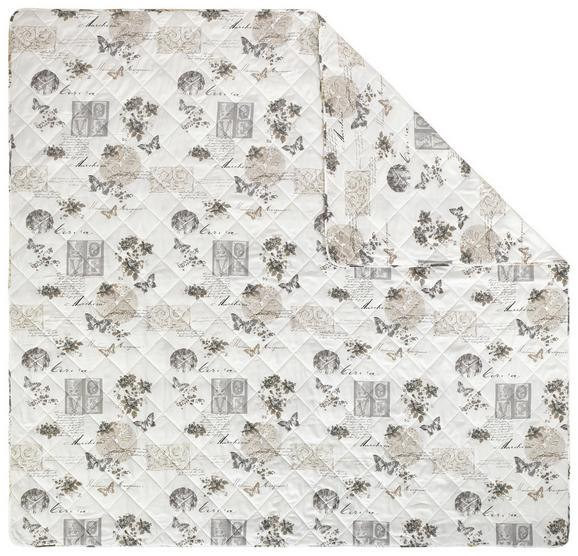 Tagesdecke Fleur in Bunt, ca. 220x240cm - Beige/Schwarz, ROMANTIK / LANDHAUS, Textil (220/240cm) - Mömax modern living