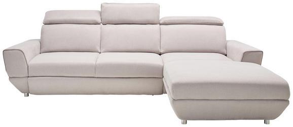 Sedežna Garnitura Bueno - siva/srebrna, Moderno, tekstil (290-197/104/103cm) - MODERN LIVING