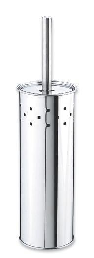 WC-Bürstengarnitur Bürstl - Edelstahlfarben, Kunststoff/Metall (9,5/39/9,5cm) - MÖMAX modern living