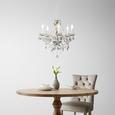 Lustră Isabella - clar/culoare crom, Romantik / Landhaus, plastic/metal (149cm) - Modern Living