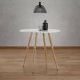 Tisch John Ø ca.80cm - Eichefarben/Weiß, MODERN, Holz/Metall (80/76cm) - Modern Living