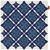 Kissenhülle Mary Stick Blau 45x45cm - Blau, MODERN, Textil (45/45cm) - Mömax modern living