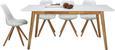 Esstisch Weiß/wallnuss Echtholz - Braun/Weiß, MODERN, Holz/Holzwerkstoff (180/76/90cm) - Zandiara