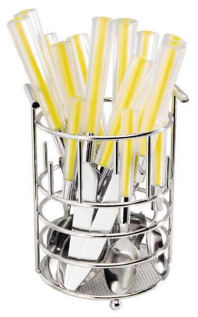 Küchenutensilienhalter Chrom - Chromfarben, Basics, Metall (11,5/17cm) - Mömax modern living