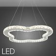 Pendelleuchte Alena mit LED - Chromfarben, Glas/Metall (48/120cm) - Bessagi Home