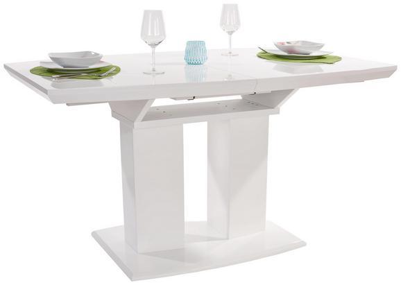 Kihúzható Asztal Malvin - Fehér, modern, Faalapú anyag (140-180/76/90cm)