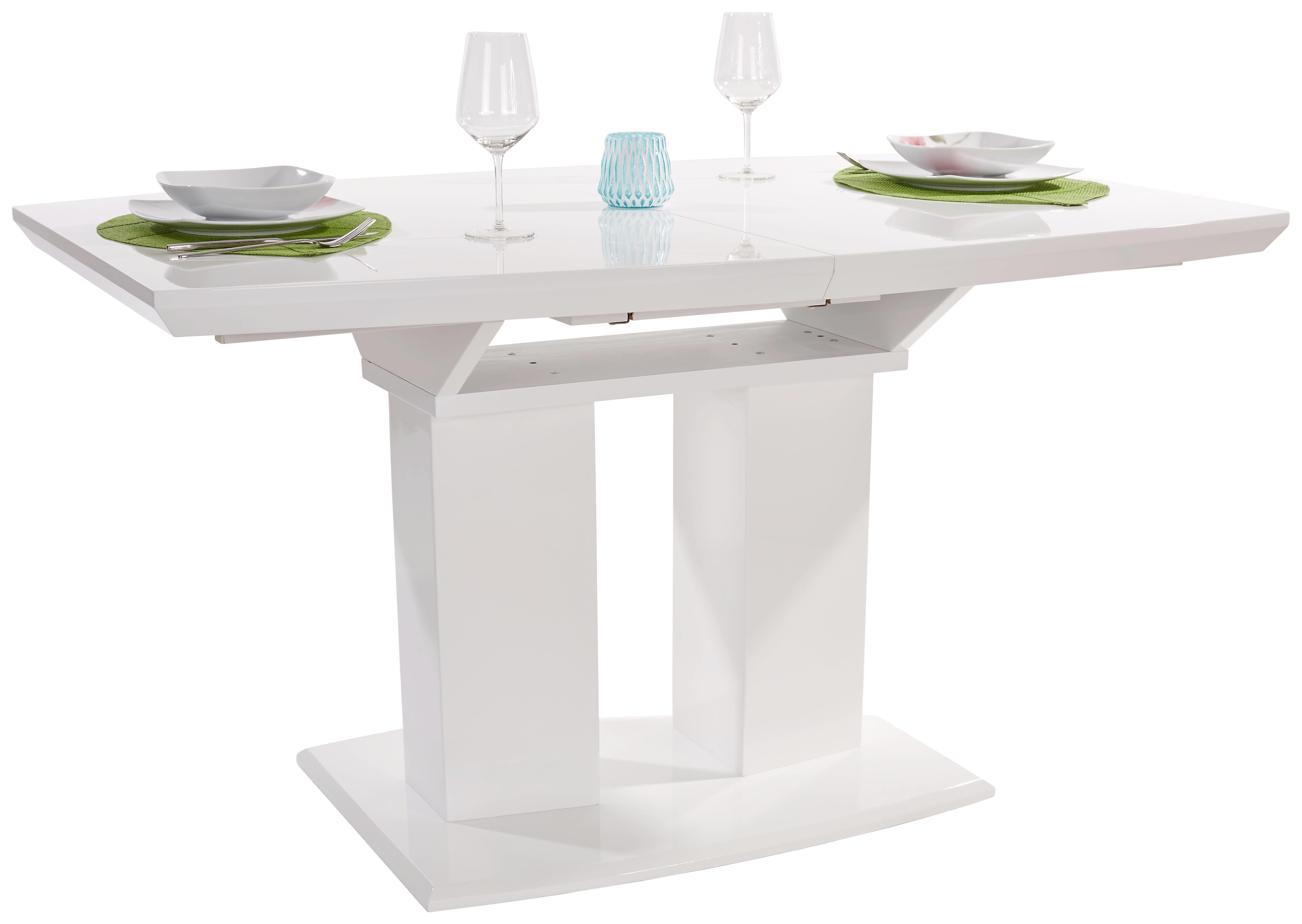 Kihúzható Asztal Malvin - fehér, modern, faanyagok (140-180/76/90cm)
