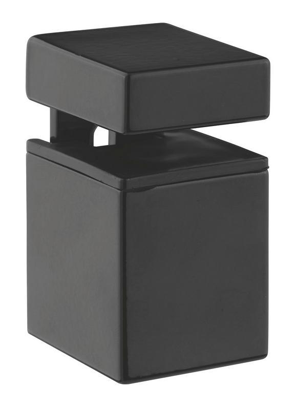 Stenski Nosilec Block 4 - črna, kovina (5,5/5-7,1/3,5cm)