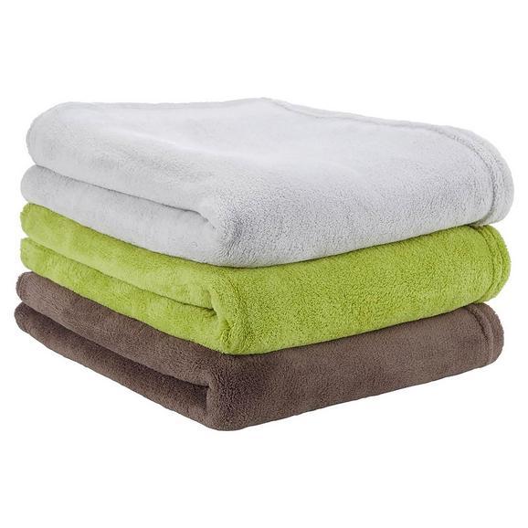 Pătură Pufoasă Based - maro/verde, textil (130/160cm) - Modern Living