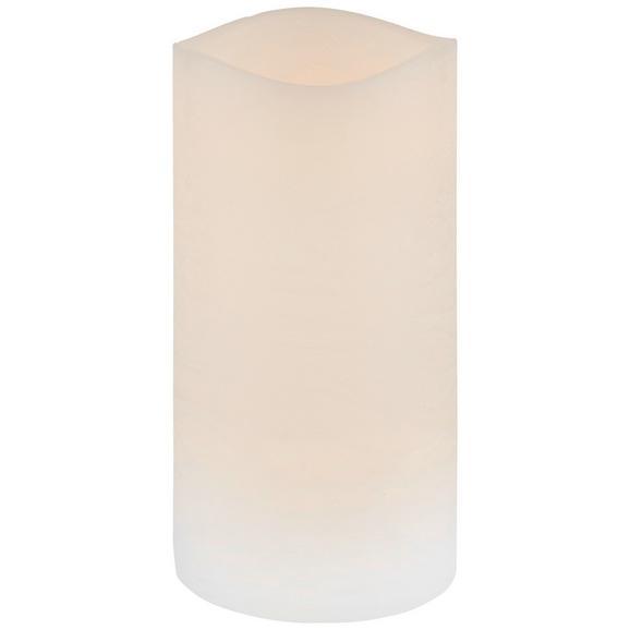 Lumânare Cu Led Leonie - alb, plastic (7,5/14cm) - Modern Living