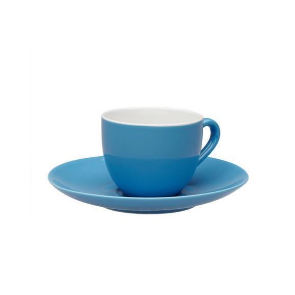 Espressotasse mit Untertasse Sandy in Türkis aus Keramik - Türkis, KONVENTIONELL, Keramik (6,4/5cm) - MÖMAX modern living