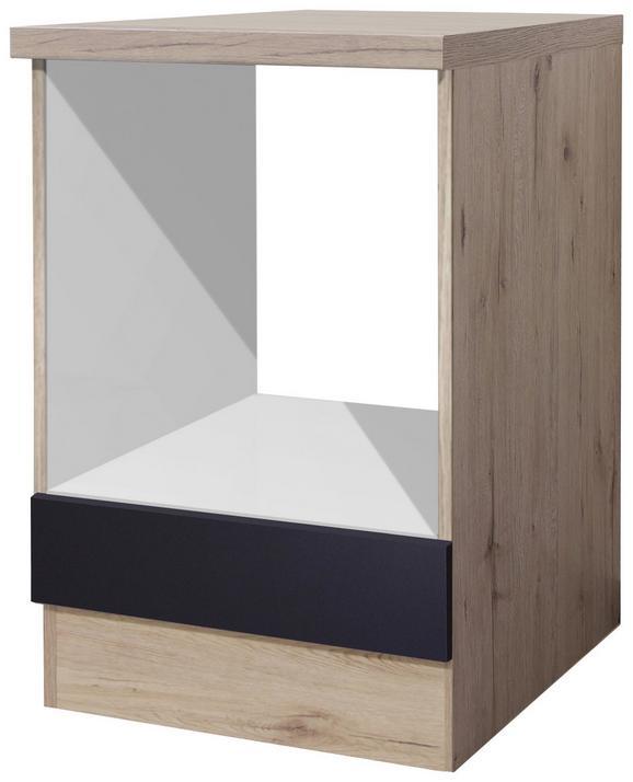 Herdumbauschrank Anthrazit/Eiche - Eichefarben/Anthrazit, MODERN, Holzwerkstoff (60/86/60cm)