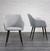 Stuhl Nicola - Dunkelbraun/Hellgrau, MODERN, Holz/Textil (58/82,5/45cm) - Mömax modern living