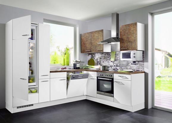 Kuhinjski Blok Speed 351 - bron/bela, Moderno, leseni material (310/190cm)
