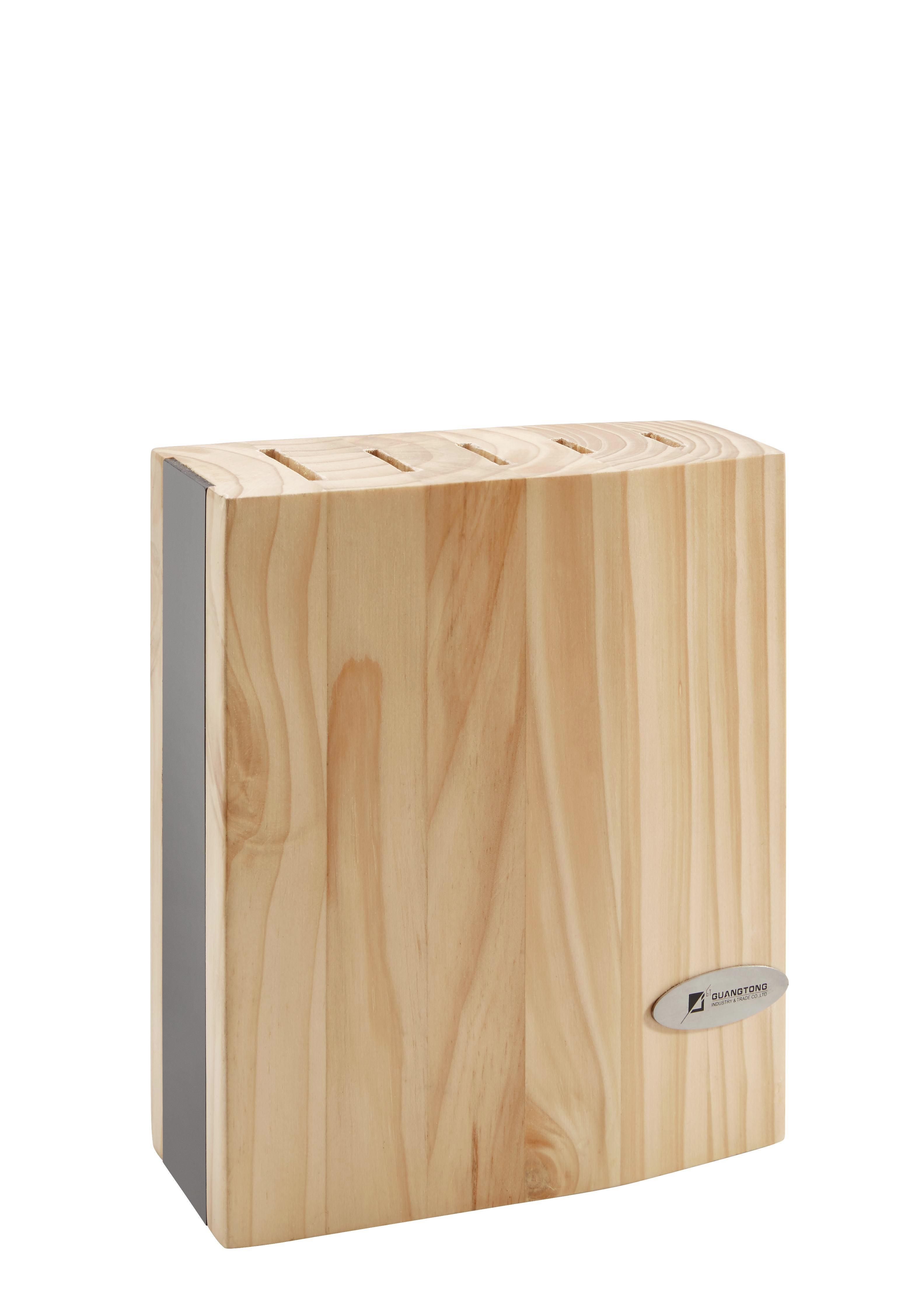 Messerblock Andy 6-teilig in Pinienfarben - Pinienfarben, Holz (18,5/36/8cm) - MÖMAX modern living