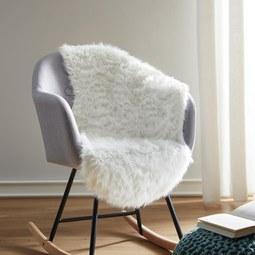 Kunstfell in Weiß ca.60x95cm 'Romy' - Weiß, MODERN, Textil (60/95cm) - Bessagi Home
