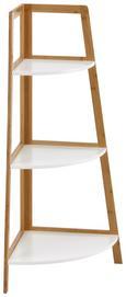 Regal Mirella - Buchefarben/Weiß, MODERN, Holz (38/96/38cm) - Modern Living