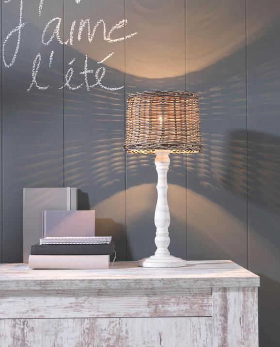 Leuchtenfuß Afra, max. 40 Watt - Weiß, Kunststoff (12/42cm) - Mömax modern living