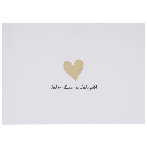 Postkarte Schön, dass es dich gibt - Goldfarben/Schwarz, Papier (14,8/10,5cm)