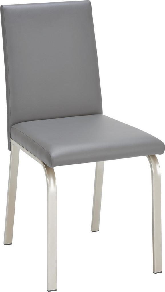 Stuhl in Edelstahlfarben/anthrazit - Edelstahlfarben/Anthrazit, MODERN, Holzwerkstoff/Textil (47/95/60cm) - Mömax modern living
