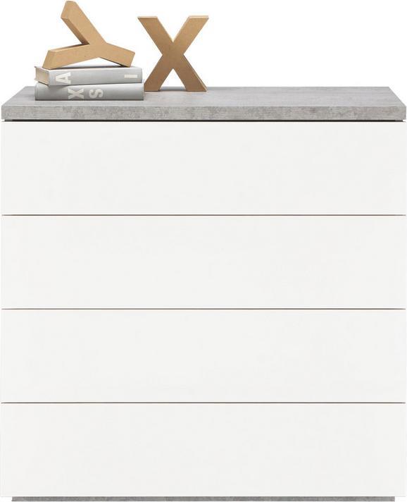 Kommode Grau/Weiß - Weiß/Grau, Holzwerkstoff (85/88/44cm) - Modern Living