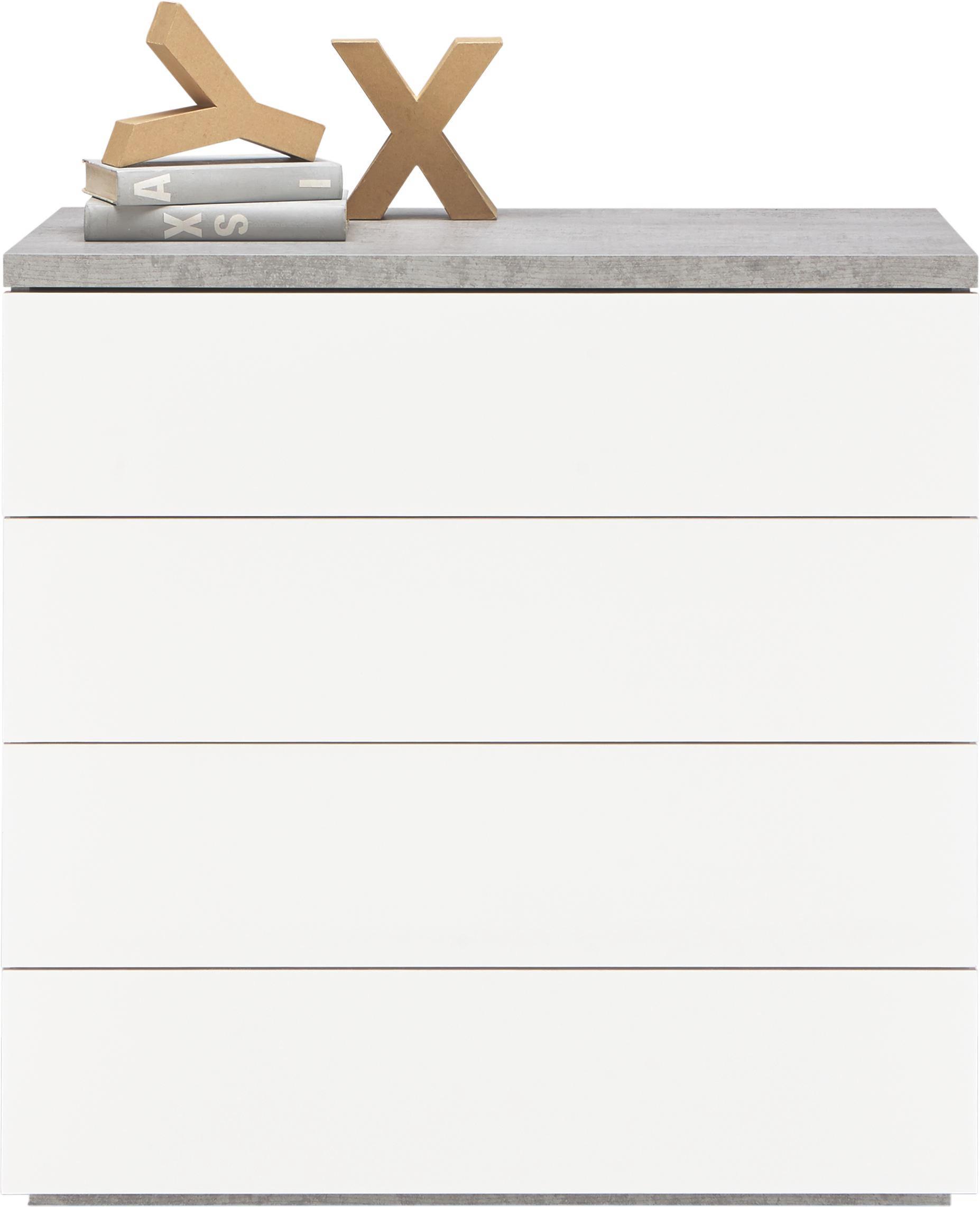 Kommode in Grau/Weiß - Weiß/Grau, Holzwerkstoff (85/88/44cm) - MODERN LIVING