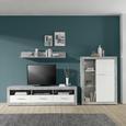 Element Tv Malta - alb/culoare aluminiu, Modern, plastic/compozit lemnos (185/50/42cm)