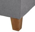 Boxspringbett Jerry ca.180x200cm inkl. Topper - Grau, MODERN, Holz/Textil (210/188/118cm) - Mömax modern living