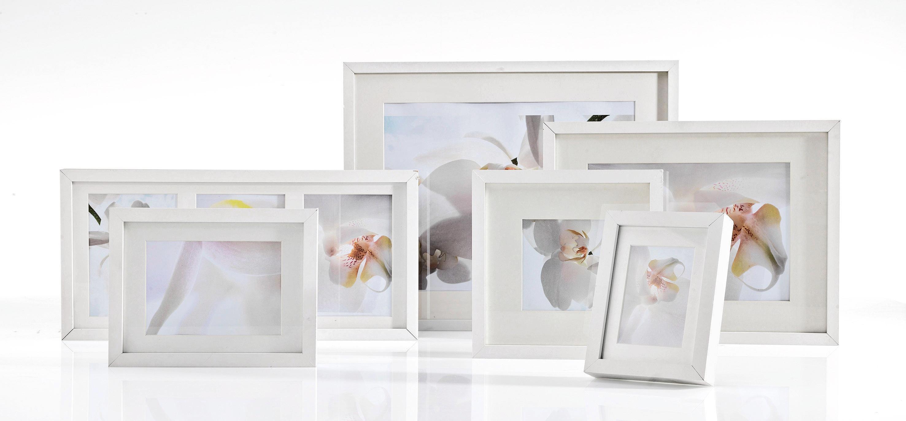 Képkeret Fa - fehér, modern, üveg/fa (50/70cm) - MÖMAX modern living