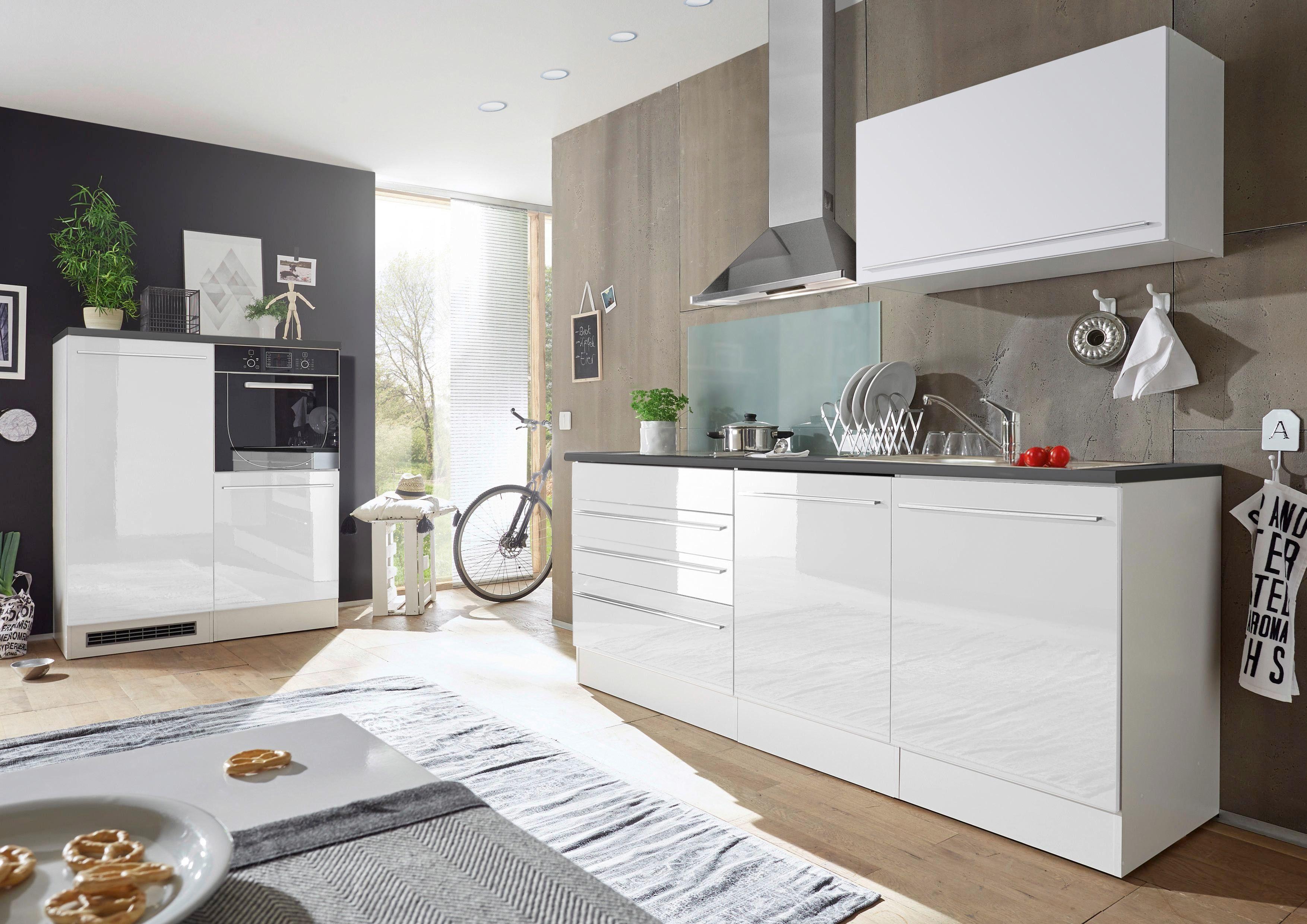 Kuhinjski Blok Welcome Jazz 4 - bela/antracit, Konvencionalno, leseni material (200+120/60cm) - Mömax modern living