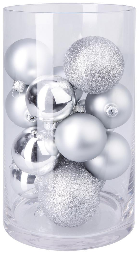 Christbaumkugel-set Cosma Silberfarben, 15-teilig - Silberfarben, Glas - Mömax modern living