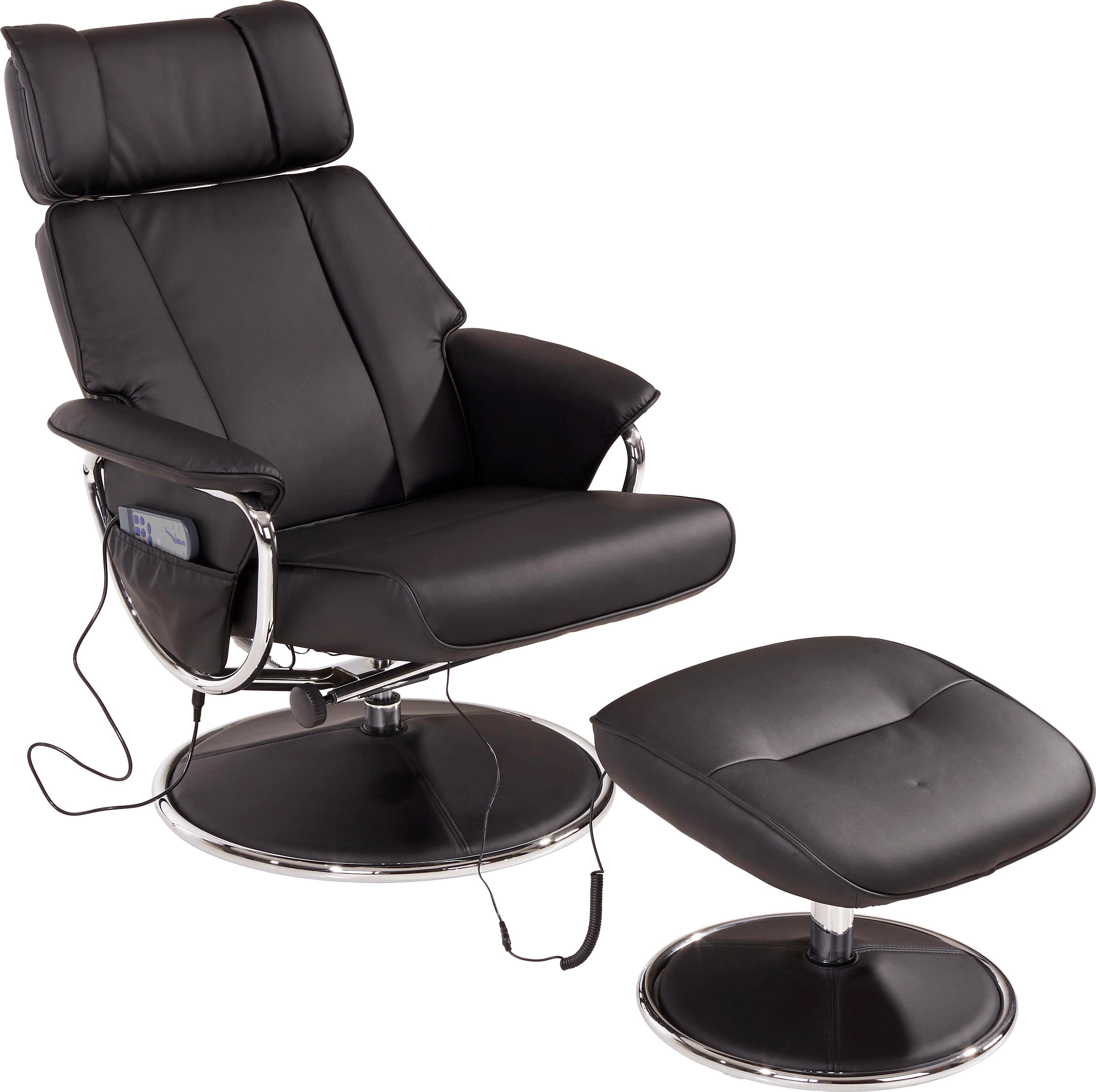 Tv-fotel Paloma - krómszínű/fekete, modern, textil/fém (77/107,5/83cm) - LUCA BESSONI