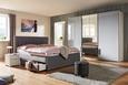 Kombischrank Weiß/Silbergrauglas - Chromfarben/Weiß, MODERN, Glas/Holzwerkstoff (300/236/69cm) - Premium Living
