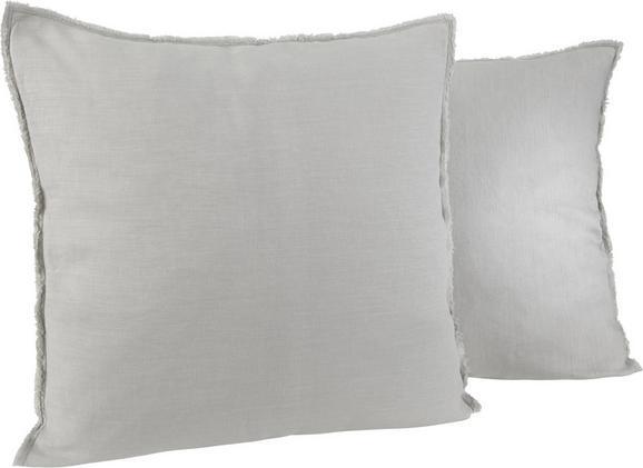 Kissen Emilia 50x50cm - Hellgrau, KONVENTIONELL, Textil (50/50cm) - Mömax modern living