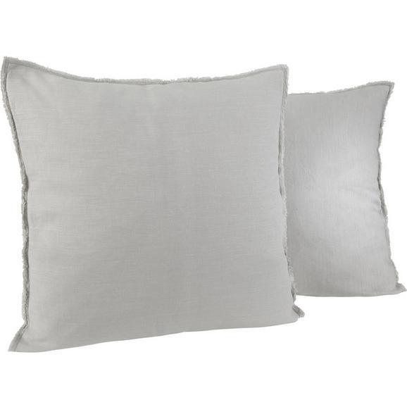 Kissen in Hellgrau 'Emilia' ca. 50x50cm - Hellgrau, KONVENTIONELL, Textil (50/50cm) - Bessagi Home