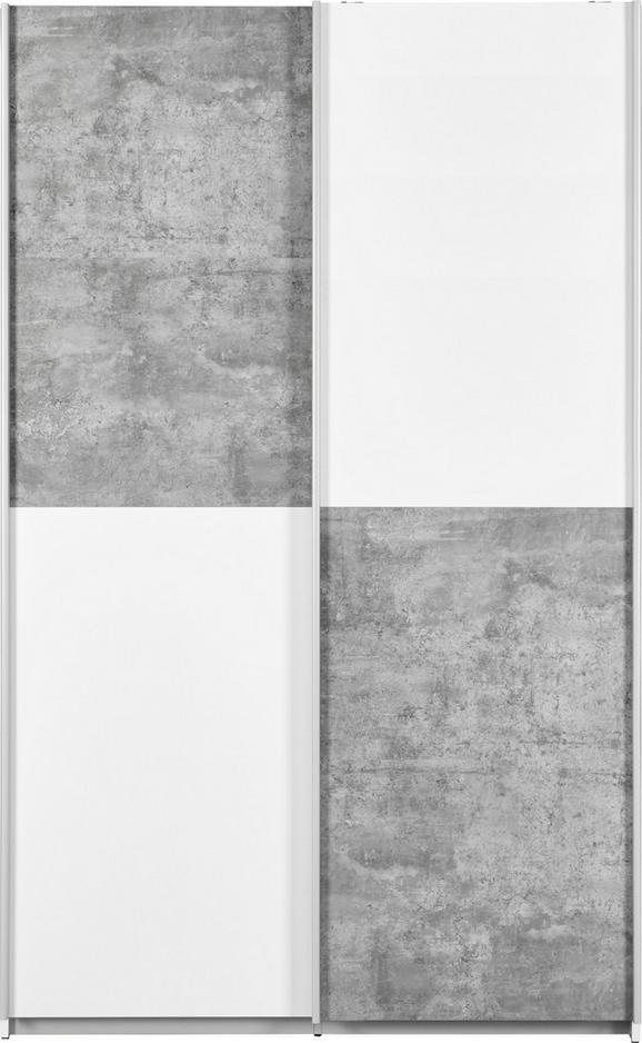 Mehrzweckschrank in Weiß/Grau - Alufarben/Schwarz, Holz/Kunststoff (120/190,5/42cm) - Mömax modern living
