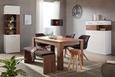 Highboard Weiß/Akaziefarben - Weiß/Akaziefarben, MODERN, Holzwerkstoff (104/137/40cm) - Premium Living