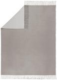 Decke Grau/Weiß 130x170cm - Weiß/Grau, ROMANTIK / LANDHAUS, Textil (130/170cm) - Mömax modern living