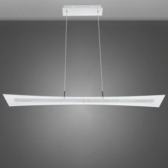 Led Hängeleuchte Rufus - Chromfarben, MODERN, Glas/Metall (100/15/120cm) - PREMIUM LIVING