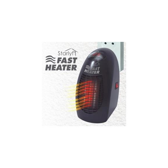 Hősugárzó Fast Heater - Fekete, Műanyag (15/19/11cm)