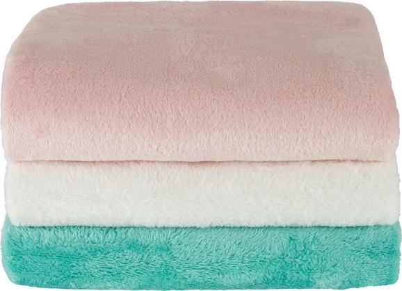 Babydecke Scarlett in versch. Farben - Rosa/Weiß, Textil (80/110cm) - Mömax modern living