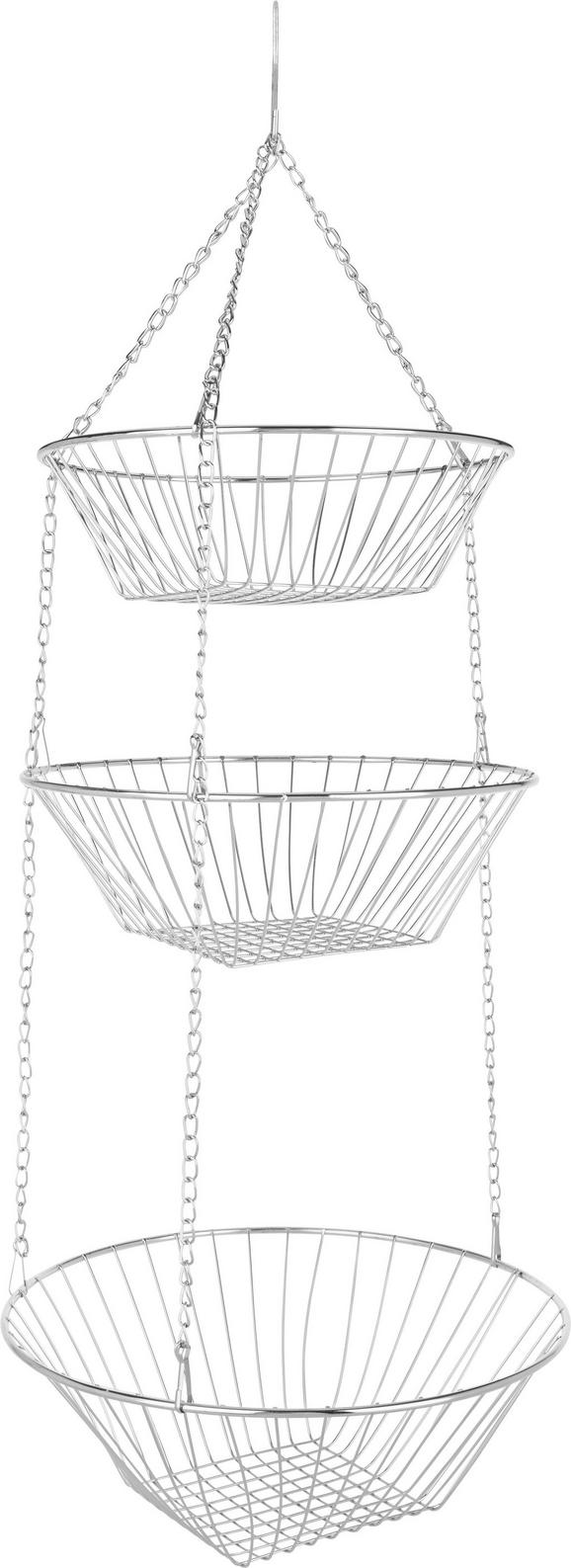 Košarica Za Sadje Rosalie - srebrna, kovina (28,2/28/9,9cm)