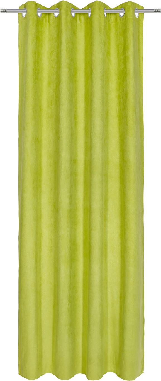 Zavesa Z Obročki Velours -top- - zelena, Konvencionalno, tekstil (140/245cm) - Mömax modern living