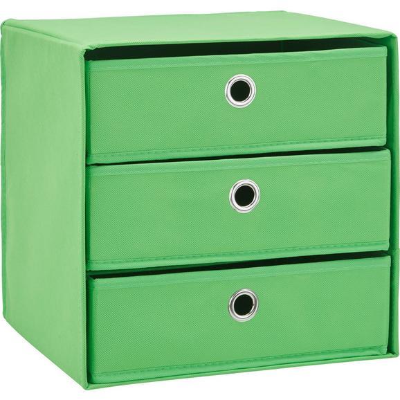 Predalnik Mona V Barvi Zelene Jabolke - zelena, Moderno, kovina/karton (32/31,5/32cm) - Mömax modern living