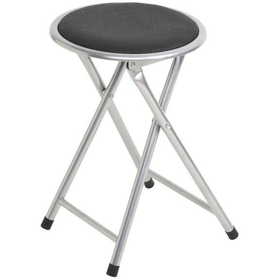 Összecsukható Ülőke Ouzo    -sb- - Alu/Fekete, Fém (30/45/30cm) - Based