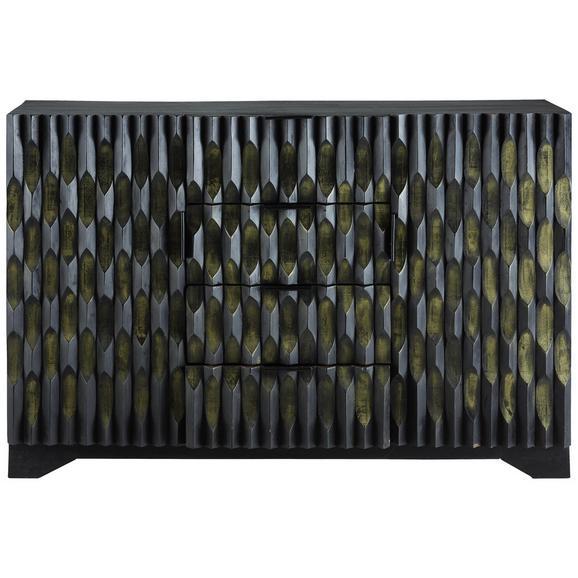 Sideboard in Schwarz/Goldfarben - Goldfarben/Schwarz, MODERN, Holz (140/90/42cm) - Premium Living