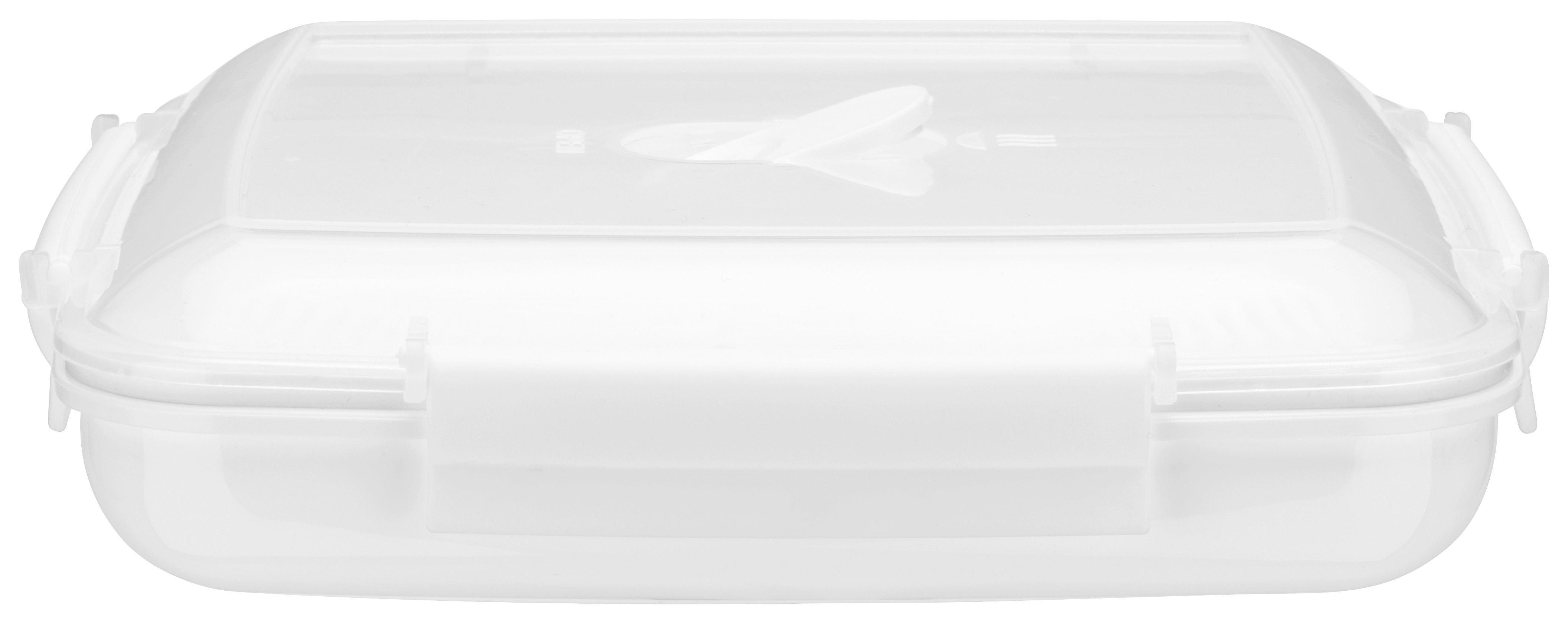 Mikrowellendose Mikka in Weiß, ca. 880ml - Transparent/Weiß, Kunststoff (0,88l) - MÖMAX modern living